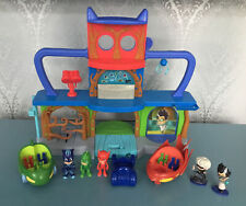 PJ MASKS BUNDLE OF TOYS HEADQUARTERS PLAY SET FIGURES & VEHICLES TAKE A L@@K