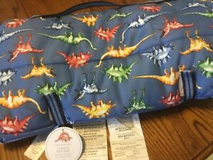 Pottery Barn Kids dinosaur SLEEPING Nap Mat No Mono NEW blue/multi 21x51
