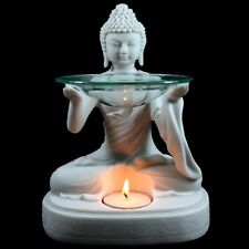 Buddha Oil Burner Statue Figurine Fragrant Melts Aromatherapy Glass Dish 20 cm