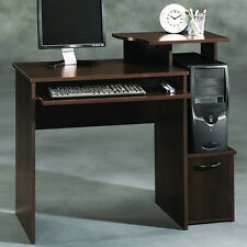 Computer Table Desk Small Home Office Furniture Slide Out Keyboard PC Top Shelf