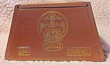 5 Vegas Gold Churchill Limited Release 1890 Wooden Cigar Box w sliding top EUC