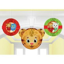 DANIEL TIGER'S NEIGHBORHOOD HONEYCOMB DECORATIONS (3) ~ Birthday Party Supplies