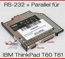 INTERFACE IBM LENOVO T60 T60P T61 RS 232 SERIAL PARALLEL 40Y8124 40Y8122 TOP