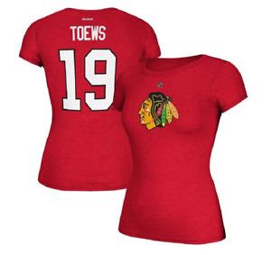 NHL Reebok Chicago Blackhawks #19 Hockey Shirt New Womens Sizes