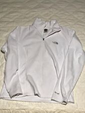 Womens The North Face Ivory Fleece 1/4 Zip Up Jacket Pull Over Sz M Medium Nice