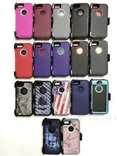For iPhone 5/5S/SE 1st Generation Defender Case With (Belt Clip Fits Otterbox)