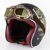 Motorcycle Helmet Retro Helmet With Goggles Open Face DOT Casque Moto Helmets