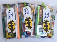 Batman party bags , super hero,pre filled sweets toys, puzzle,boys girls,