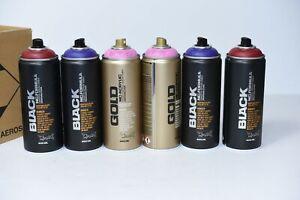 LOT OF Montana Graffiti Spray Paint 400ML 6Pcs REF:912