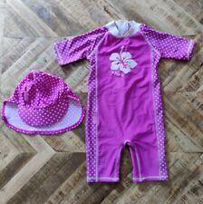 JoJo Maman Bebe 6-12 Months Baby Sunprotection Swimsuit Plus Hat