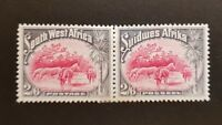 South West Africa 2/6 Partly Separated Pair SG82 LMM