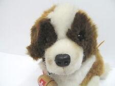 MES-46008Steiff Hund Bernie H:ca.16cm mit Knopf Schild und Fahne,