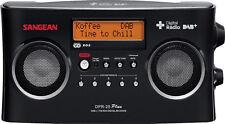 Sangean DPR-25 tragbares DAB+ Digitalradio (UKW-Tuner, AUX-In, Stereo) schwarz