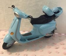Barbie Vespa Motor Scooter Light Blue Helmet Accessorie Doll Diorama 2003 Mattel