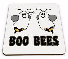Boo Bees Funny Cute Halloween Novelty Glossy Mug Coaster