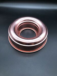 Vintage Pink Copper Aluminum Jello Ring Mold Cake Pan 6 cup