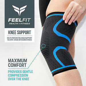 Knee Compression Sleeve Support for Running, Jogging, Sports, Joint Pain Relief
