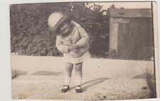PHOTO ANCIENNE annee 1927 - FILLETTE PETIT ENSEMBLE EN LAINE-SOULIERS VERNIS/