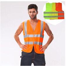 Safety Clothing Running Race Vest Visibility Reflective Fluorescent Stripes Vest
