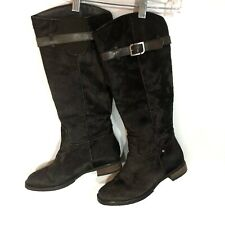 ROCKPORT TALL Boot Size 6 Brown Leather Pony Hair