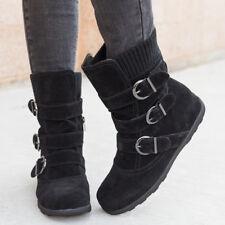 Winter Women Ankle Boot Cloth Snow Boots Shoes Belt Buckle Zip Flats Booties