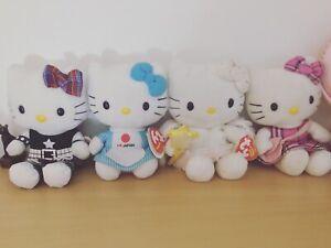 Hello Kitty TY Beanie Babies Plush Bundle, Sanrio