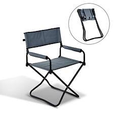 Outsunny Chaise Pliante Chaise de Camping/Plage/Régisseur/Pêche Métal et Oxford