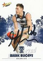 ✺Signed✺ 2017 GEELONG CATS AFL Card MARK BLICAVS