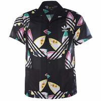 Adidas Men's Pharrell Williams Surf Shirt Black Floral Beach Summer Wear