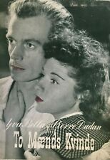 Manouche Yva Bella Pauline Carton Blanche Dauris 1942 Vtg Danish Movie Program