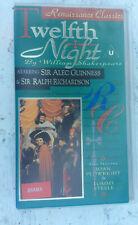 TWELFTH NIGHT [1970] VHS PAL - Alec Guinness, Tommy Steele, Ralph Richardson