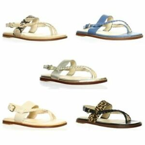 Cole Haan Womens Anica Braided Thong Sandals