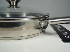 "EKCO Eterna Thick Ply Bottom 18/10 Stainless Steel 10"" Skillet Frying PAN w/ Lid"