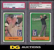 1981 Donruss Jack Nicklaus Rookie & Statistical Leader PSA 9 Set PGA RC