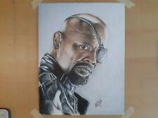 8x10 Inch Print Of Colored Pencil Portrait Of Nick Fury/ Samuel L Jackson...