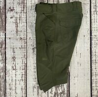 Rei Women's Stretch Outdoor Cargo Bermuda Hiking Shorts Olive Sz 4 Excellent
