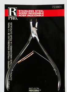 Revlon Pro Professional 1/4-JAW Cuticle Nippers - Stainless Steel  *NEW*
