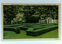 Michigan City Indiana International Friendship Gardens French Garden Postcard