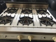 vintage Viking Gas Cooktop  White /Stainless Steel  6 Burners