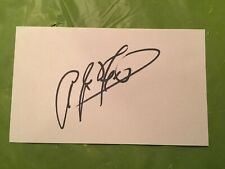 AJ Foyt Signed Index Card. 4 time Indy 500 Champion