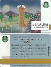 "JAPAN  Starbucks card  "" KOBE "" 6109/2013 & Sleeve"