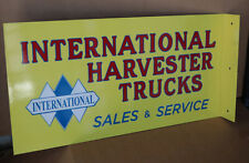 International Harvester Trucks Sign Auto Farm Gas modern retro