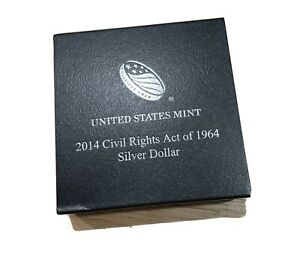 2014 CIVIL RIGHTS ACT OF 1964 Proof SILVER COMMEMORATIVE DOLLAR: U.S. MINT
