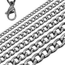 Panzerkette Königskette Herren Damen Halskette Armband Edelstahl Silbern Schwarz