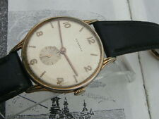 Normana oversized Vintage Swiss GP date watch 40s 50s Art Deco sub dial F Acier