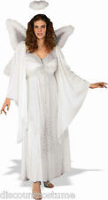 FULL FIGURED SIZE ANGEL WOMEN'S HALLOWEEN COSTUME FITS DRESS SIZE 14-22