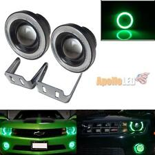 2pcs High Power 3.5'' Projector LED Fog Light w/Green COB Angel Eye Halo Rings