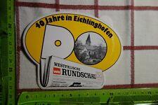 Alter Aufkleber Stadt Zeitung WESTFÄLISCHE RUNDSCHAU 40 J Dortmund Eichlinghofen