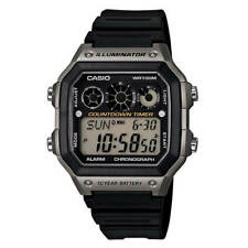 Casio Men's Watch Sport Stopwatch Digital Dial Black Resin Strap AE1300WH-8A