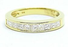 Half Eternity Diamonds 1.00ct Color F-G Clarity Vvs2 18k. Gold Ring Size: N 1/2
